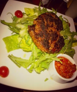 Lamb Moroccan Burger on Salad