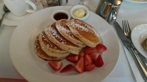 Buttermilk Pancakes with Fresh Strawberries