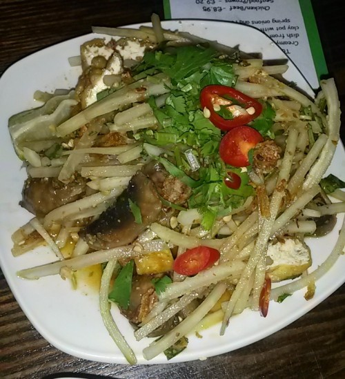 Green Papaya Salad with Tofu & Mushrooms