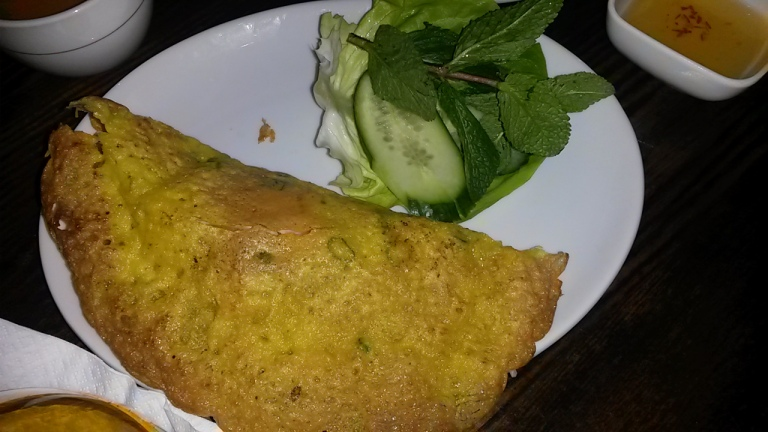 Vietnamese Pancake with Prawns