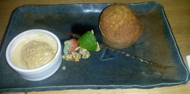 Pumpkin Cake, Sunflower Seeds, Malt Ice Cream