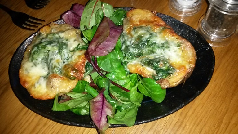 Loaded Potato Skins with Wild Mushroom & Spinach