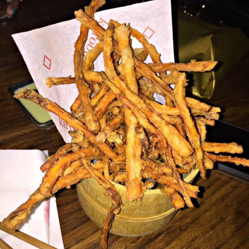 Sweet Potato and Soba-Ko Fries with Sauces